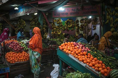 בשוק בג'יבוטי. רק 850 אלף תושבים (צילום: AP) (צילום: AP)