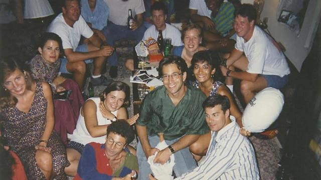 Daniel Pearl in the green shirt (Photo: Private collection)