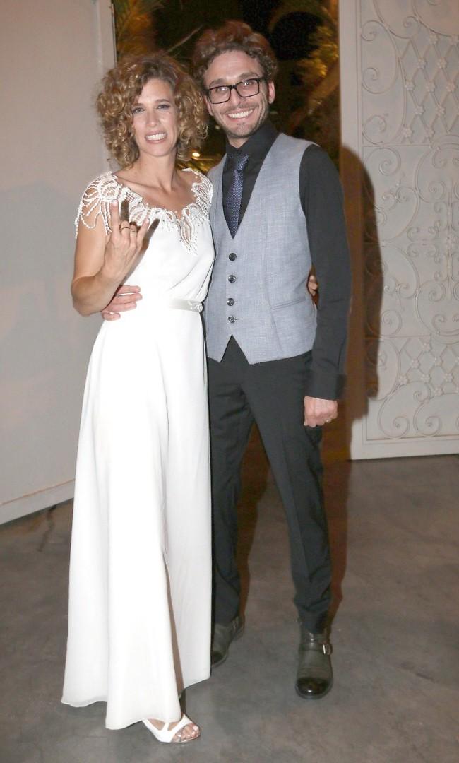 והנה החתן והכלה. ליטל גיברוביץ וצ'ארלי לוגסי (צילום: ענת מוסברג)