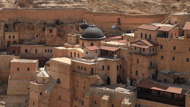 מנזר מרסבא בשיא תפארתו (צילום: עינב ברזני) (צילום: עינב ברזני)