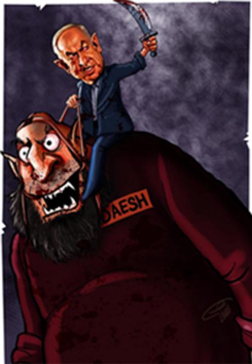 Netanyahu riding ISIS 'monster'