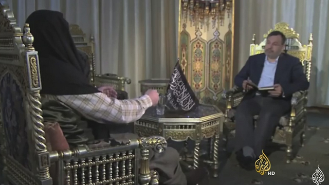 Screenshot of Al Jazeera interview