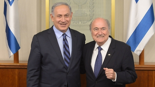 Prime Minister Netanyahu with FIFA President Sepp Blatter. (Photo: GPO) (Photo: GPO)