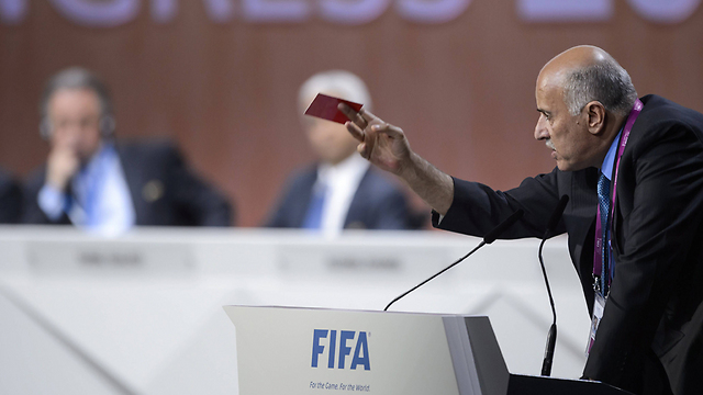 Rajoub issues red card against Israel (Photo: AFP)