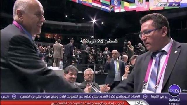 Rajoub was also criticized for shaking Israeli Football Association's chief Ofer Eini