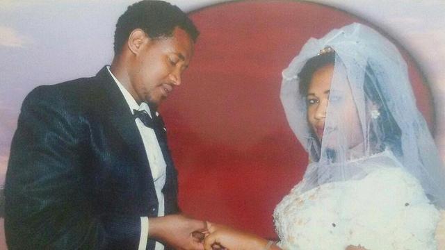 אדיסו טספה ואשתו מלקם, ביום חתונתם