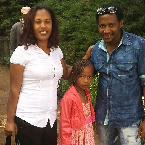 טספה עם אשתו ובתו