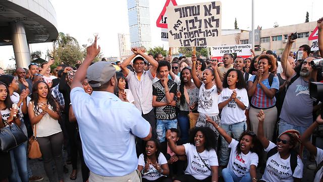 Protest in Tel Aviv (Photo: Motti Kimchi) (Photo: Moti Kimchi)