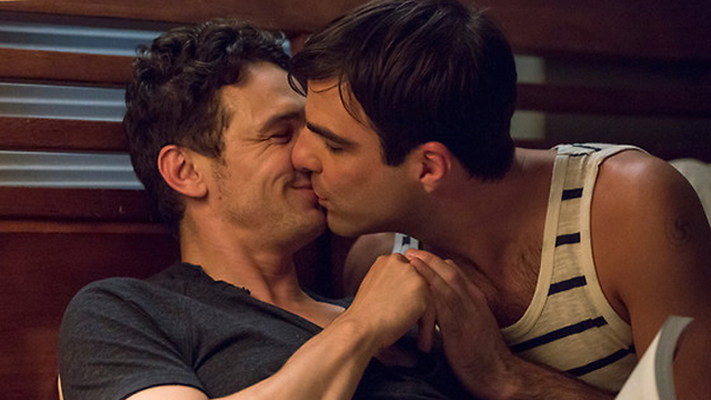 """זה מפתיע: ג'יימס פרנקו וזכארי קווינטו מתנשקים ב""""אני מייקל"""" ()"""