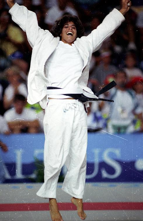 יעל ארד בזכייתה במדליית כסף, ברצלונה 92' (צילום: יוסי רוט) (צילום: יוסי רוט)