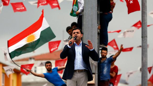 סלהאטין דמירטאש. האם הכורדים יעברו את אחוז החסימה?  (צילום: רויטרס)