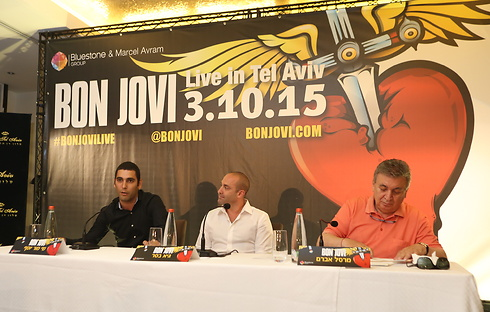 Show's producers in Tuesday's press conference (Photo: Yaron Brener)