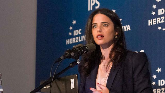 Justice Minister Ayelet Shaked (Photo: Ido Erez)