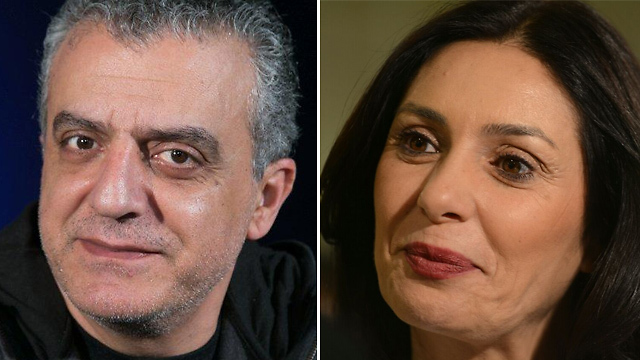 Culture Minister Regev (right) vs. Israeli Arab actor Norman Issa (Photos: Ofer Amram, George Ginsburg)