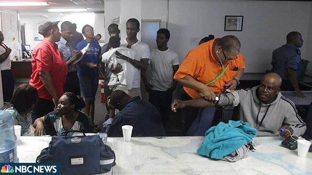 תמונות הניצולים מקבלים טיפול, מתוך דיווח של רשת NBC ()