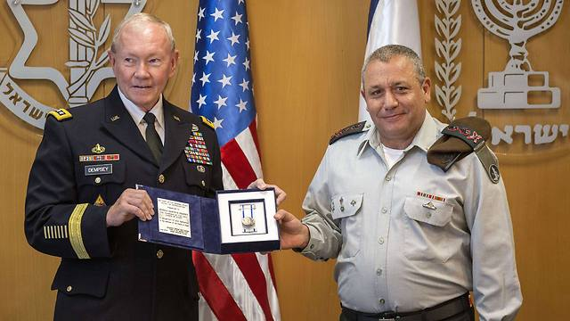 General Dempsey with Chief of Staff Eizenkot (Photo:AFP)