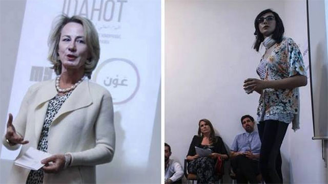 """""""התערבות בענייני ירדן"""". השגרירה האמריקנית בכינוס נגד הומופוביה שנערך בעמאן ()"""