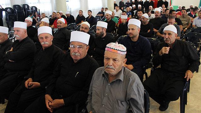 שייחים התכנסו לדיונים בגורל הדרוזים בסוריה (צילום: אתר בוקרה נט ) (צילום: אתר בוקרה נט )