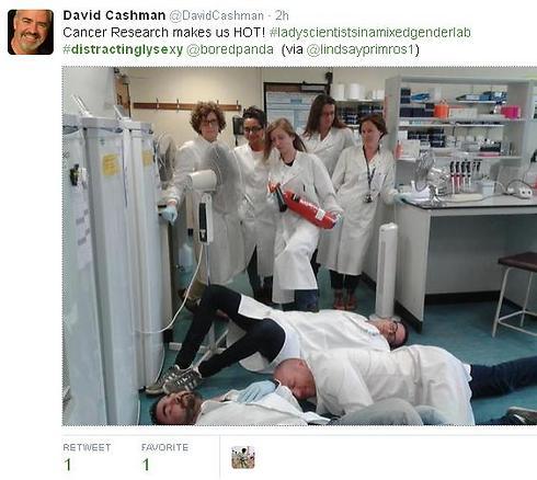 חוקרי סרטן בפעולה (צילום מסך מתוך טוויטר) (צילום מסך מתוך טוויטר)