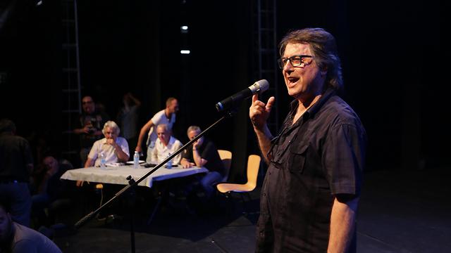 עודד קוטלר אתמול בכנס האמנים (צילום: ירון ברנר) (צילום: ירון ברנר)