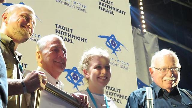 מימין: מייקל שטיינהרט, מולי דוד, צ'ארלס ברונפמן ושי גלעד (צילום: ארז עוזיר ) (צילום: ארז עוזיר )