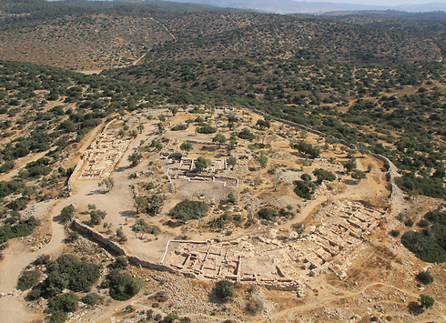 Khirbet Qeiyafa where the jar was found (Photo: Skyview)