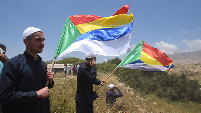 Druze protest in northern Israel. The community members in Lebanon and Israel have stated that if their brothers face an existential danger, they will fight by their side (Photo: Avihu Shapira) (Photo: Avihu Shapira)