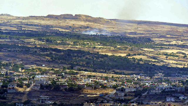 Smoke rises from continuing battles in Syria this week. (Photo: Avihu Shapira) (Photo: Avihu Shapira)