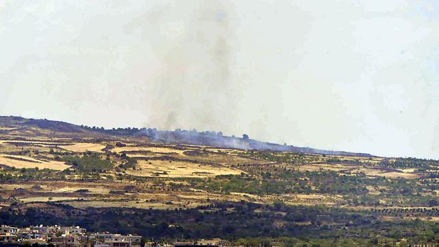 Fighting in Syria near the Israeli border this week. (Photo: Avihu Shapira) (Photo: Avihu Shapira)