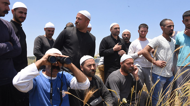 Israeli Druze watch battles across the border in Syria. (Photo: Avihu Shapira) (Photo: Avihu Shapira)