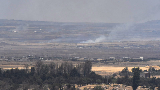 Errant fire from Syria (Photo: Avihu Shapria)