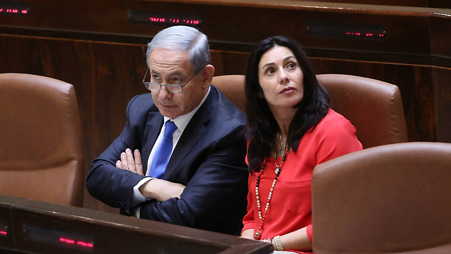 Prime Minister Netanyahu and Culture Minister Regev (Photo: Gil Yohanan)