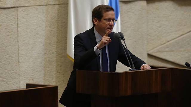 Zionist Union leader Isaac Herzog (Photo: Gil Yohanan)