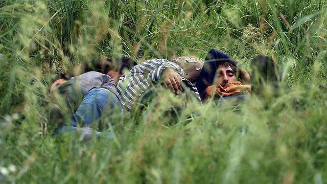 מהגרים לא חוקיים בעיר סובוטיקה הסרבית בסמוך לגבול עם הונגריה (צילום: AFP) (צילום: AFP)