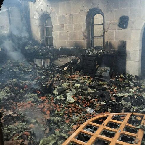 Destruction at the church (Photo: North District Firefighting)