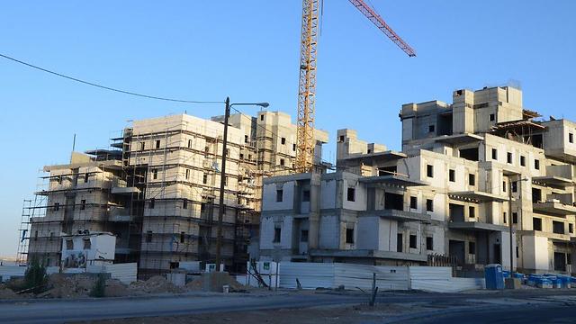 """בנייה בב""""ש (ארכיון) (צילום: הרצל יוסף)"""