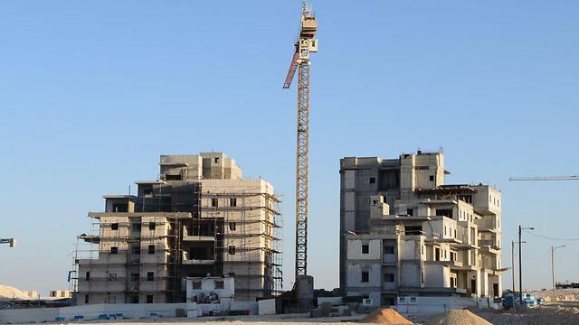 בניינים בהקמה בבאר שבע (צילום: הרצל יוסף)