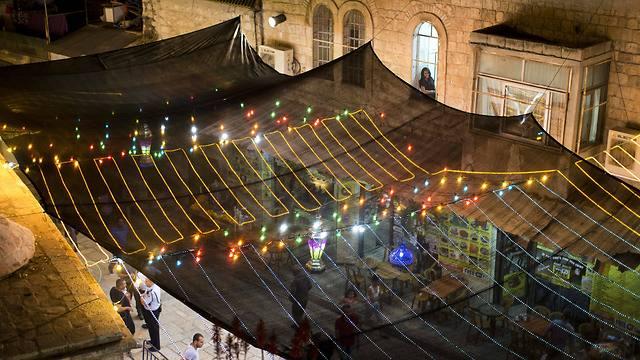 Jerusalem's old city lights up for Ramadan (Photo:EPA)