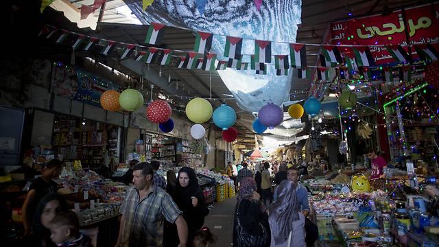 Gaza City market decorate for Ramadan (Photo:AP)
