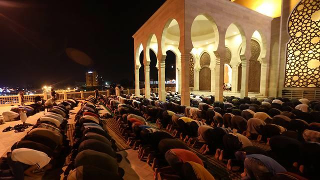 Tarawih prayers in Gaza City (Photo:AFP)