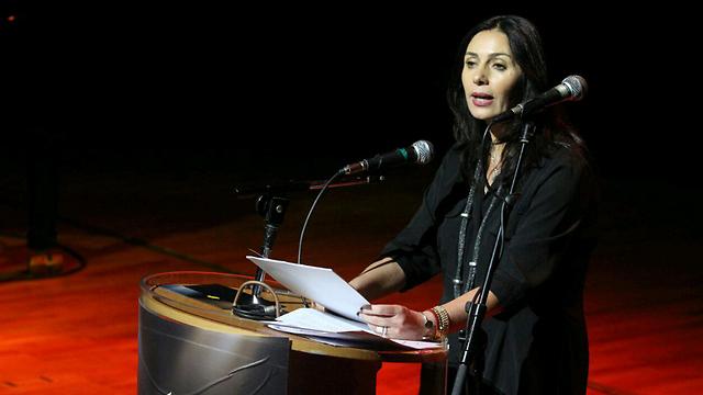 Miri Regev on stage at the award ceremony (Photo: Ido Erez) (Photo: Ido Erez)