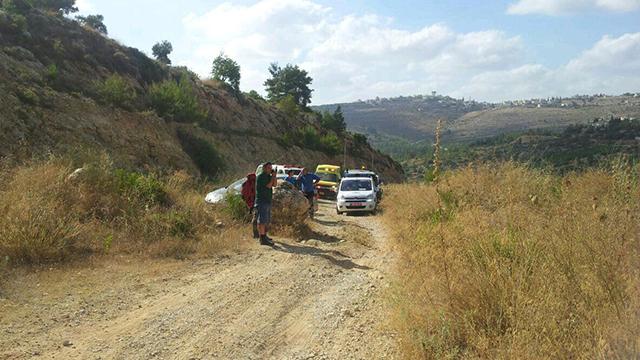 The area of the attack. (Photo: Ehud Amiton/Tazpit News Agency) (Photo: Tazpit News Agency)