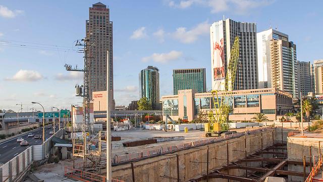 עבודות הרכבת הקלה בתל אביב (צילום: עידו ארז) (צילום: עידו ארז)