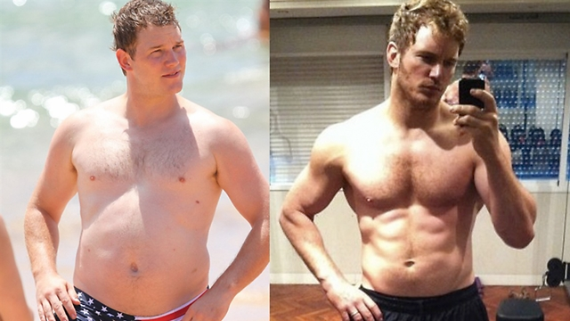 כריס פרט לפני ואחרי. בעיות בריאות חמורות ( ) ( )