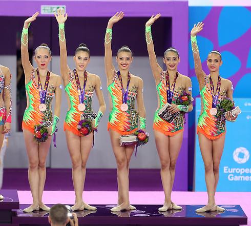 Israeli Rhythmic Gymnastics team (Photo: Oren Aharoni)