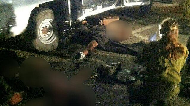 The scene of the Druze mob attack