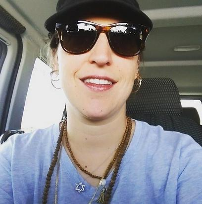 Mayim Bialik in Israel with her Star of David