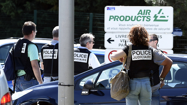 Police at the scene of the attack (Photo: AFP)