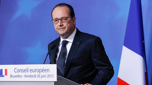 """נשיא צרפת חזר מבריסל. """"זו הייתה מתקפת טרור"""" (צילום: EPA) (צילום: EPA)"""