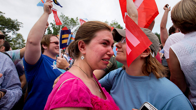 Tears of joy. (Photo: AP) (Photo: AP)